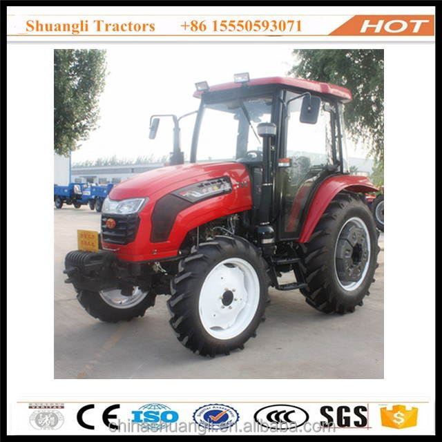 prices of agricultural tractor 70hp four wheel drive with closed cab