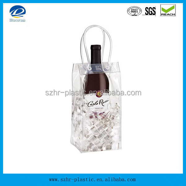 Supply clear PVC Wine Packing Bag