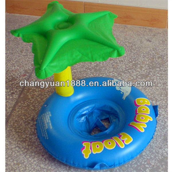 New design cheap pvc inflatable palm tree pool float for baby