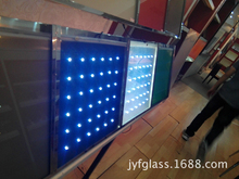 Top Quality LED Laminated Glass Partitions,Flashing Glass