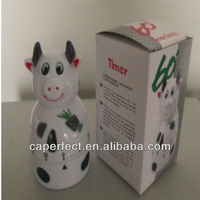 Plastic ABS animal shaped mechanical kitchen timer