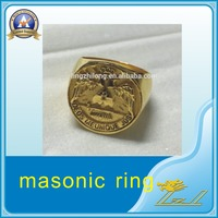 Custom New Style Gold Ring Masonic Championship Ring