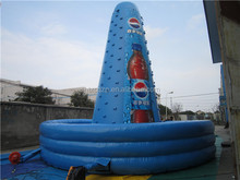 Durable climbing,inflatable wall, inflatable rocking climbing with safety belt for sale