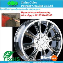 Nickel chrome silver color Powder Coating Colors for car wheel