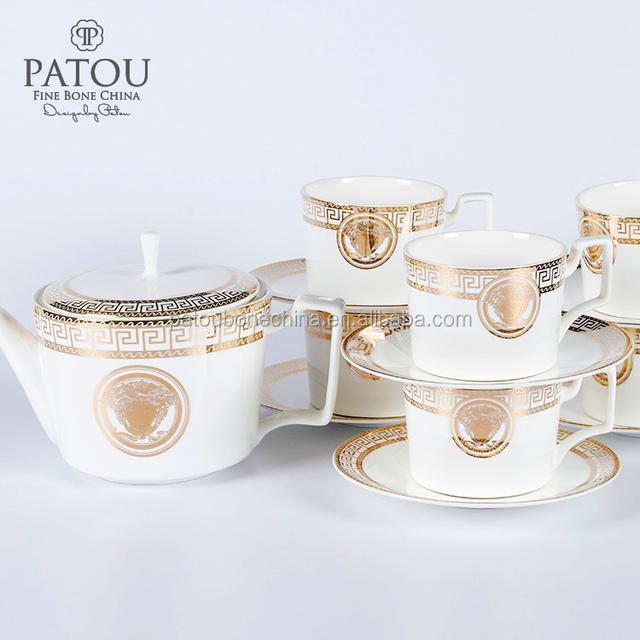 Arabic coffee pot turkish coffee cups set purple tea set