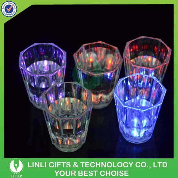 60ML Color Changing Led Flashing Shot Glass For Promotion