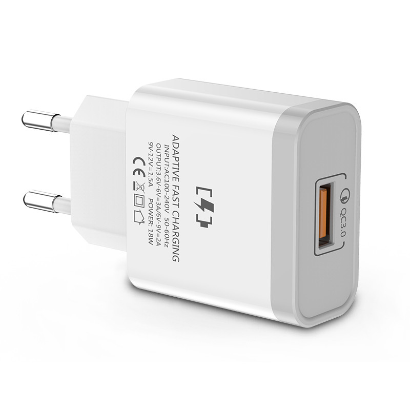 18W Fast Charging 5V 3A Travel USB <strong>Mobile</strong> Phone Charger Power Adapter Charging EU US Plug for Samsung