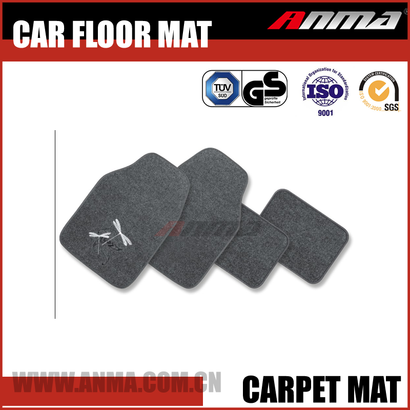 4pcs colorful carpet 3d car floor mat