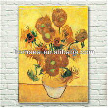 handmade flower oil painting reproduction