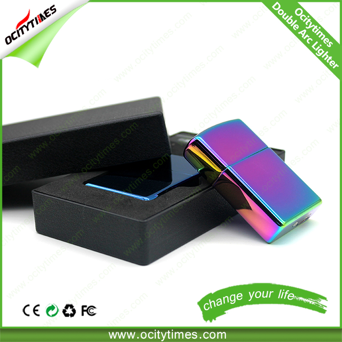 Eco-friendly rechargeable lighters electronic water proof lighter cigarette case with usb lighter