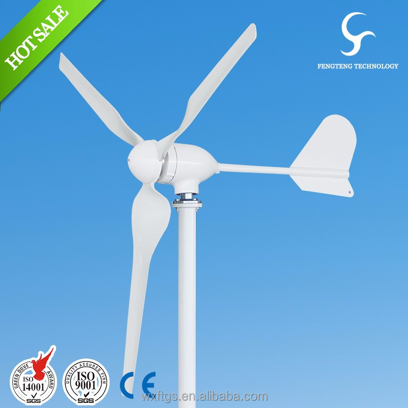 400w 12 / 24v roof top small wind turbine made in china