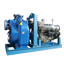 10 inch air cooler diese engine self priming pump use for sewage treatment