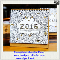 factory direct sale custom flip over desk calendar 2016 calendar printing