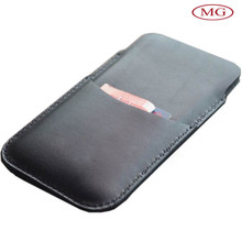 genuine leather phone sleeve pouch for iphone 7 with card holder
