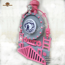 DIY home decor gear restaurant bar Internet cafe iron locomotive wall decoration sculpture reproduction