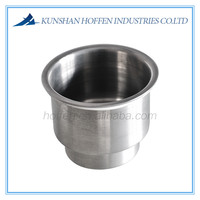 stainless steel drink cup holder for yacht and marine boats