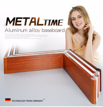 Waterproof Aluminum alloy Skirting Board baseboard for flooring & kitchen cabinet
