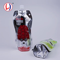 Reclosable Juice Drink Packaging Stand Up Customised Plastic Bags With High Barrier