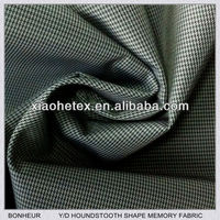 polyester yarn dyed shape memory fabric for menswear