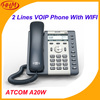 A20W 2 SIP WiFi Phone Entry-level business wireless SIP Phone , LDAP, Backlight LCD Desktop Office IP Phone
