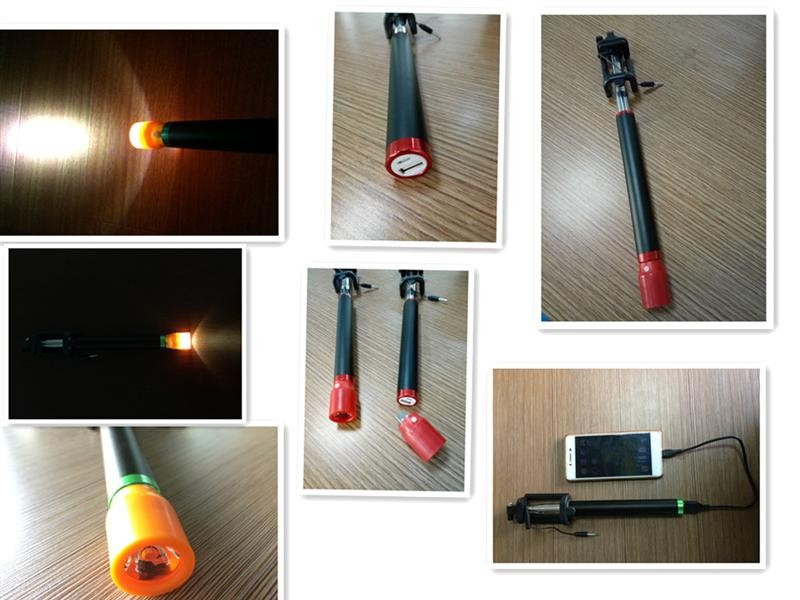 hot sale selfie stick with power bank from china manfacture
