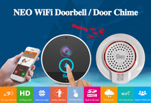 Shenzhen neo alarm chime speaker wifi doorbell battery with wilress ip camera 1080p video doorbell phone