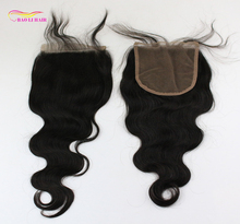 wholesale silk base 5*5 body wave indian virgin brazilian human hair dubai 5x5 full lace front top closure pieces