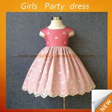 Hot Sale Newest Lovely Beautiful Baby Girl Pillowcase Dress Pink Children Party Dresses SPSY-753