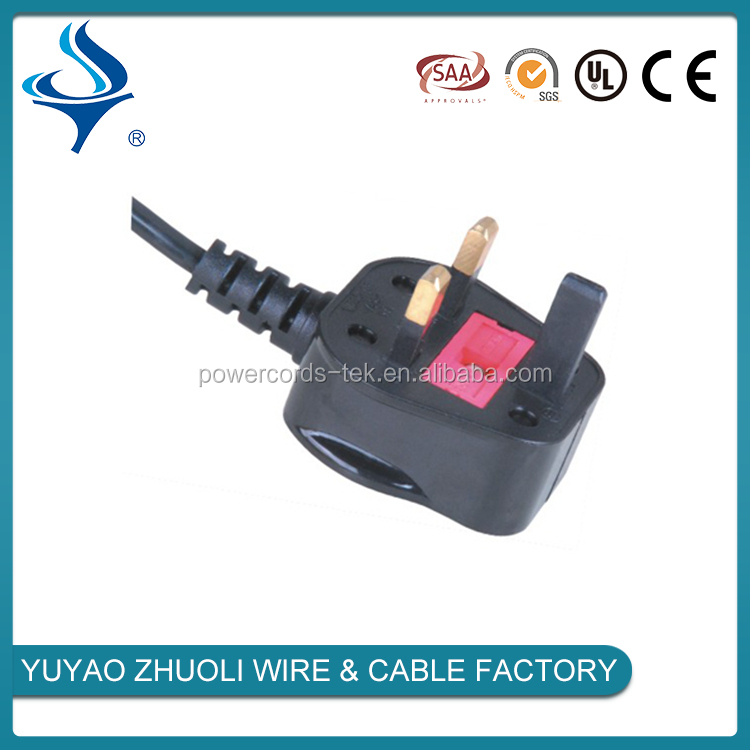 South Africa 3 pin power plug SABS electric cord AC power cord