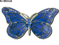 2014 New Design Cheap Wholesale Metal Enamel Butterfly Brooch