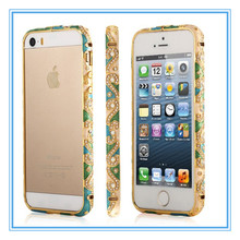 Crystal Rhinestone Diamond Metal Frame Bumper Case Cover for Apple iPhone 5 5S
