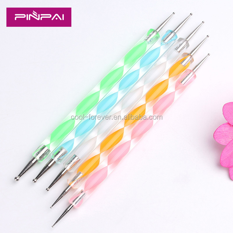 Cheap plastic nail dotting tools, nail art