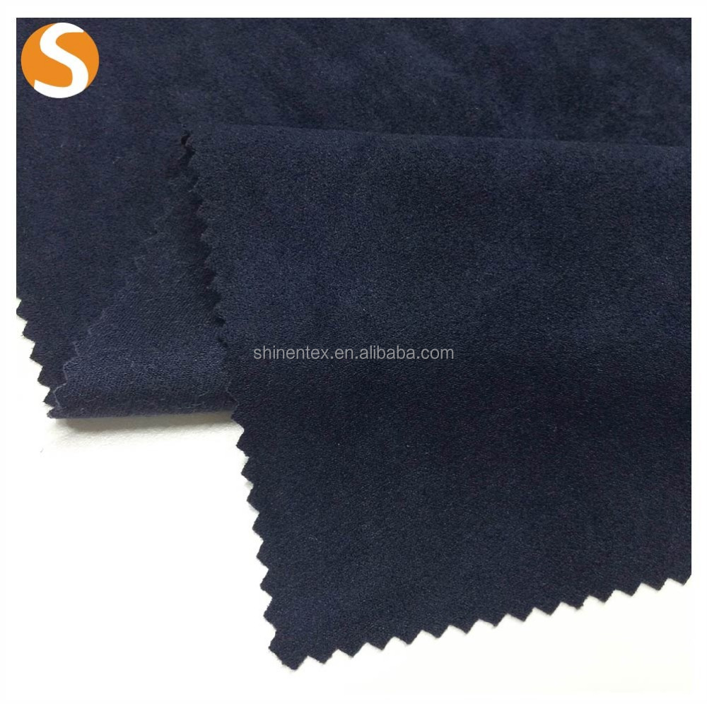 hot selling yarn dyed knit polyester micro suede fabirc from shaoxing manufacturer
