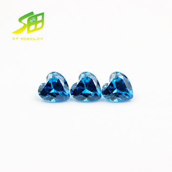 top quality Heart cut loose cubic zirconia stones