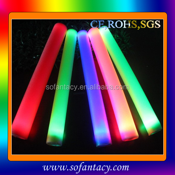 Lighting led foam stick baton, light up led flashing foam stick, foam led stick