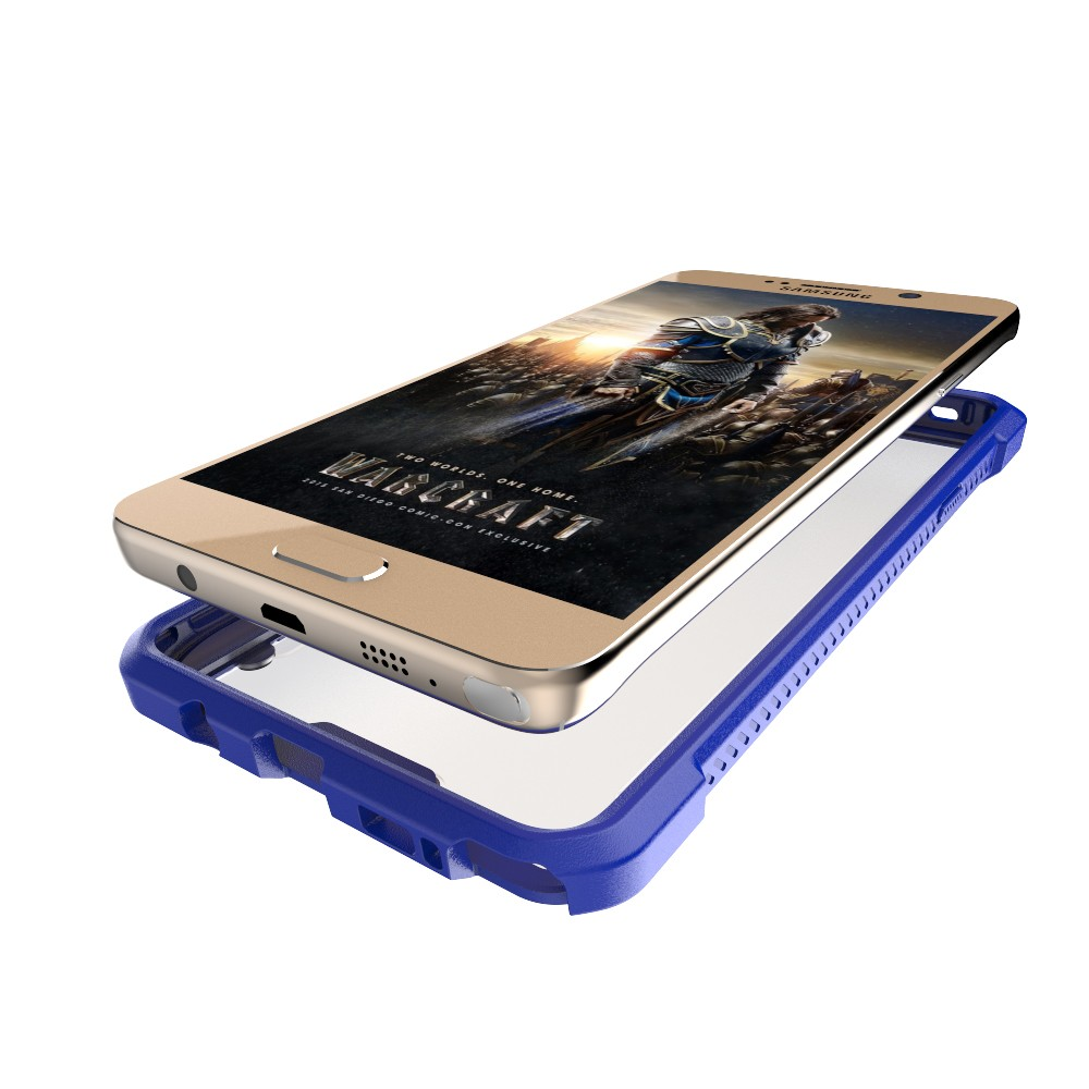 Double layer plastic bumper case for samsung galaxy note 3