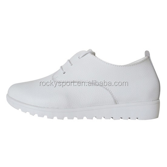 customized lace up nurse shoes with wide heel,hospital nursing shoes