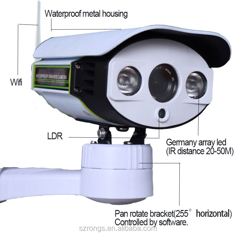 Outdoor 2.0MP POE bullet wireless 4x optical zoom IP CCTV camera