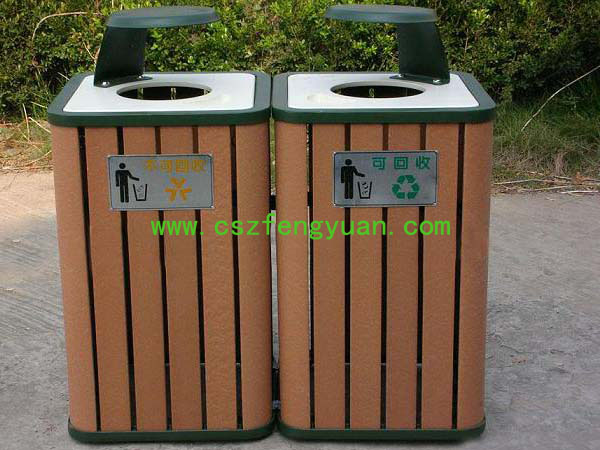 Good quality advantage dustbin with ashtray for outdoor use