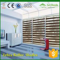 Manual Motorized remotes Fabric zebra window roller shades & curtain
