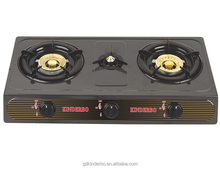 Three burner domestic table top gas cooker