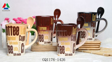 High quality ceramic mug with decal printing for wholesale