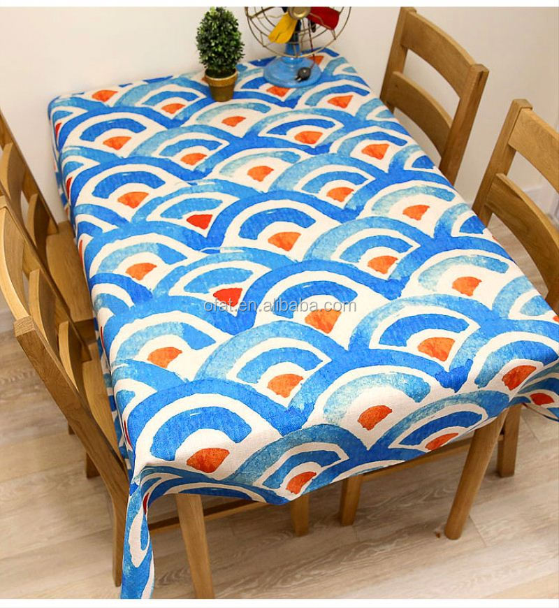 custom plastic coated tablecloth