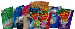 Spouted pouch wash supplies baby /skin care plastic packaging bags