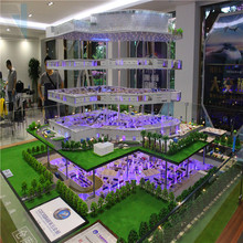 High quality 3D maquette , commercial building interior layout model maker