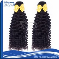 bolin hot sell natural color no shedding no tangle short hair brazilian curly weave