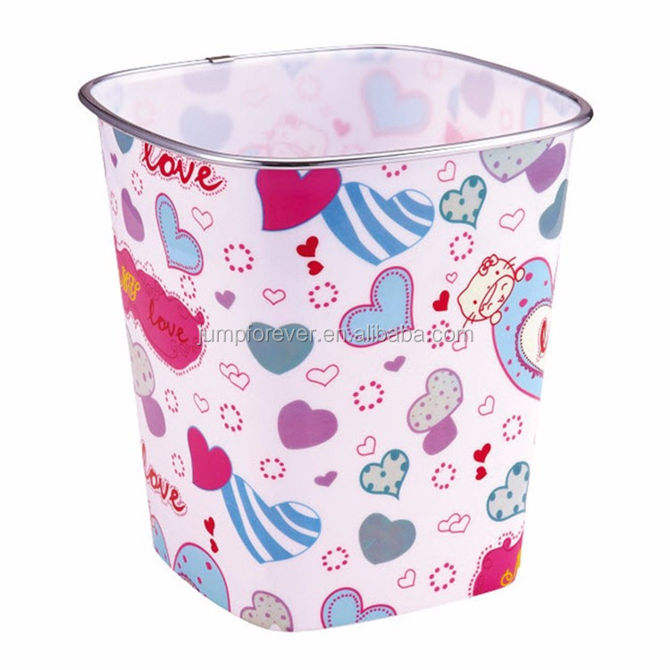 Various Good Quality Colorful Printing Plastic Hospital Dustbin