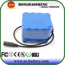 UN 38.3 UL certified no memory effect lithium ion battery case 3s4p 18650 battery pack 11.1volt 13.6AH