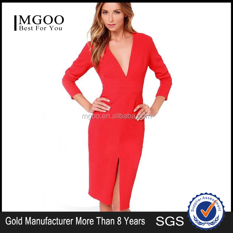 grossiste robe rouge manche longue acheter les meilleurs robe rouge manche longue lots de la. Black Bedroom Furniture Sets. Home Design Ideas