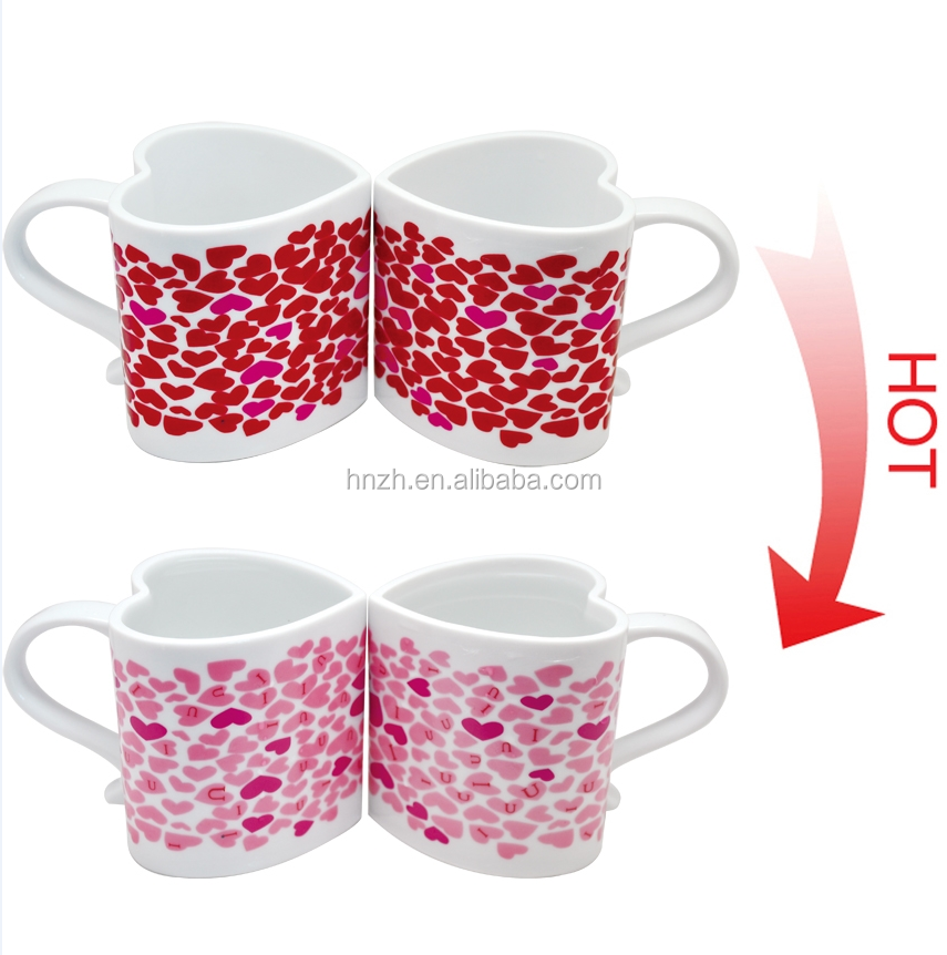 Custom Ceramic Hot Heat Sensitive Color Changing Magic Mugs Colorful